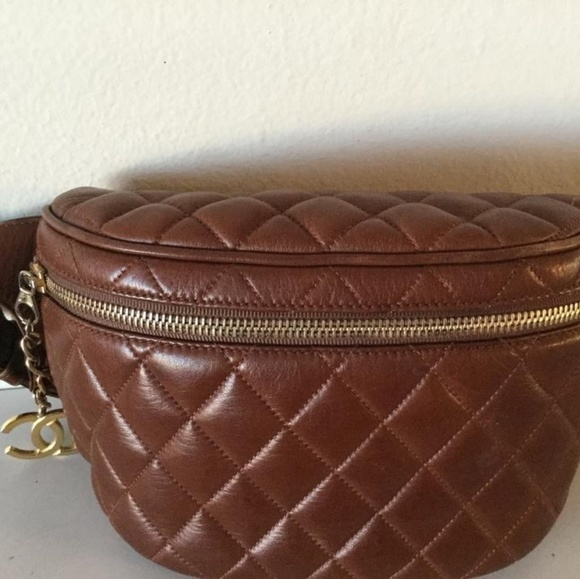 191601dd562 CHANEL Bags   Super Rare Vintage Fanny Pack Brown Lambskin Leath ...